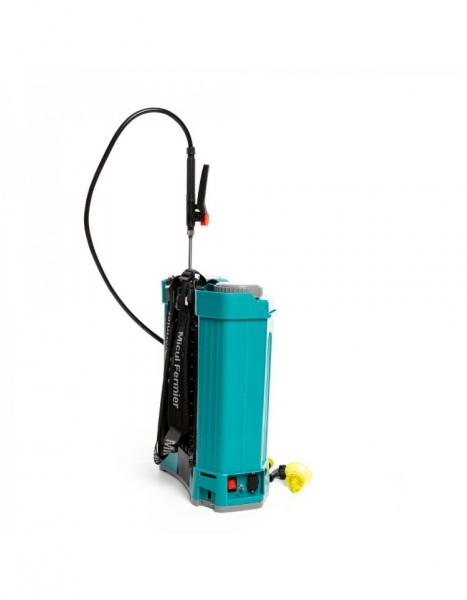 Pompa de stropit electrica Pandora 16 Litri, 5 Bari + regulator presiune, Vermorel cu baterie - acumulator 15