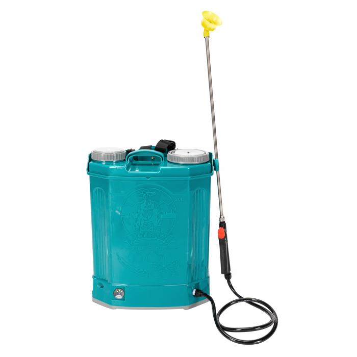 Pompa de stropit electrica Pandora 20 Litri, 5 Bari + regulator presiune, vermorel cu baterie-acumulator 2