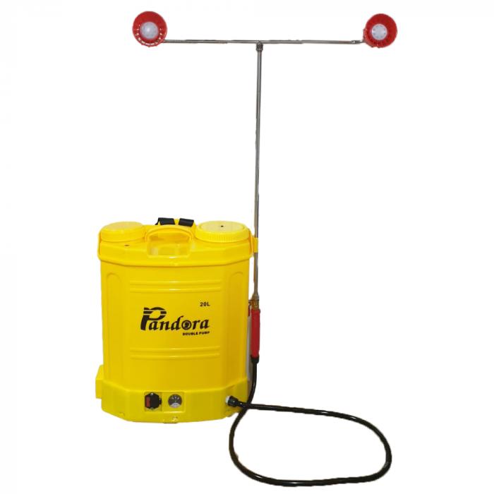 Pompa de stropit electrica Pandora 16 Litri, cu pompa dubla 15Ah, 7,5 Bari, 6 LPM 0