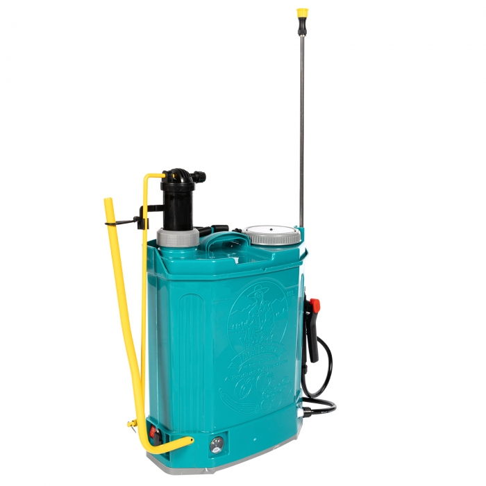 Pompa de stropit electrica si Manuala ( 2 in 1 ) 16 Litri 5 Bar, regulator presiune, Vermorel Pandora ( Herly ) cu baterie acumulator si manuala [7]