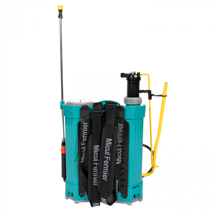Pompa de stropit electrica si Manuala ( 2 in 1 ) 16 Litri 5 Bar, regulator presiune, Vermorel Pandora ( Herly ) cu baterie acumulator si manuala [9]