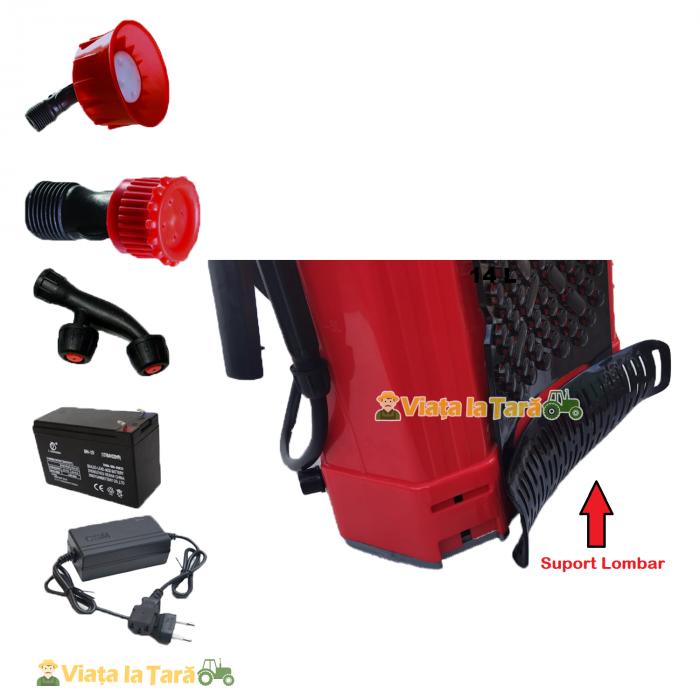 Pompa de stropit electrica si manuala ( 2 in 1 ) 16 Litri 6 Bar, regulator presiune, ELEFANT cu baterie acumulator si manuala 1
