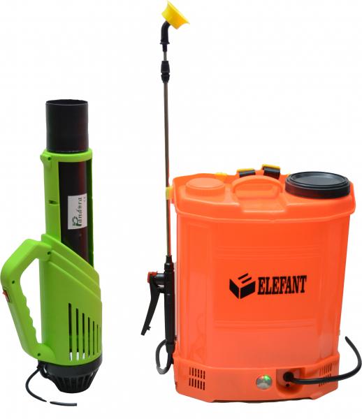 Pompa de stropit Elefant 18 Litri 6 Bari, vermorel cu baterie acumulator 12V/8A + Atomizor electric portabil de 12V 8Ah PANDORA 0