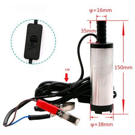 Pompa de transfer combustibil, submersibila 24V, 20 l/min, 38MM 4
