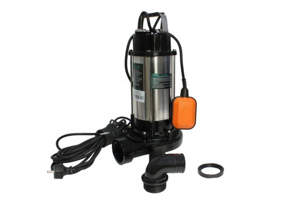 Pompa pentru apa murdara - cu tocator si plutitor 1500W din INOX 23m3/h DETOOLZ 0