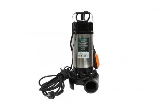 Pompa pentru apa murdara - cu tocator si plutitor 1500W din INOX 23m3/h DETOOLZ 3