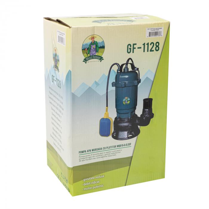 Pompa pentru apa murdara cu plutitor, pentru HAZNA, 2750W, refulare 20m, debit 25000 L/H 5