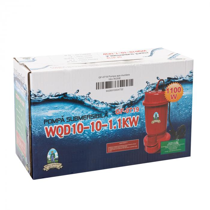 Pompa pentru Apa Murdara Micul Fermier, 1100W, 10000 l/h, Adancime de absorbtie 16 m [6]