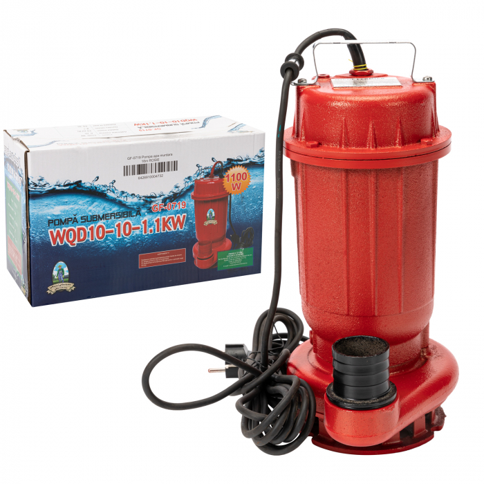 Pompa pentru Apa Murdara Micul Fermier, 1100W, 10000 l/h, Adancime de absorbtie 16 m [4]