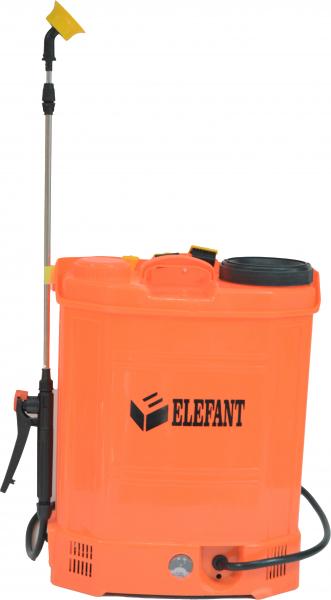 Pompa de stropit Elefant 18 Litri 6 Bari, vermorel cu baterie acumulator 12V/8A + Lance telescopica de 3,5M din inox 5