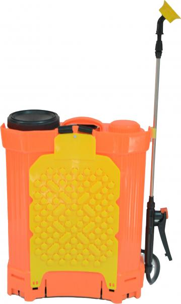 Pompa de stropit Elefant 18 Litri 6 Bari, vermorel cu baterie acumulator 12V/8A + Lance telescopica de 3,5M din inox 4