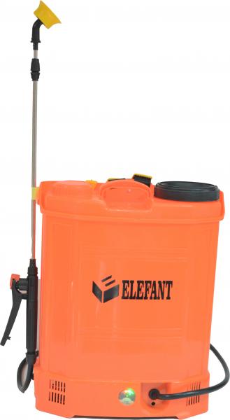 Pompa de stropit Elefant 18 Litri 6 Bari, vermorel cu baterie acumulator 12V/8A + Lance telescopica de 3,5M din inox 2