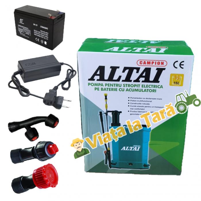 Pompa stropit electrica + manuala ( 2 in 1 ) 16 Litri - 5.5 bari - ALTAI 3