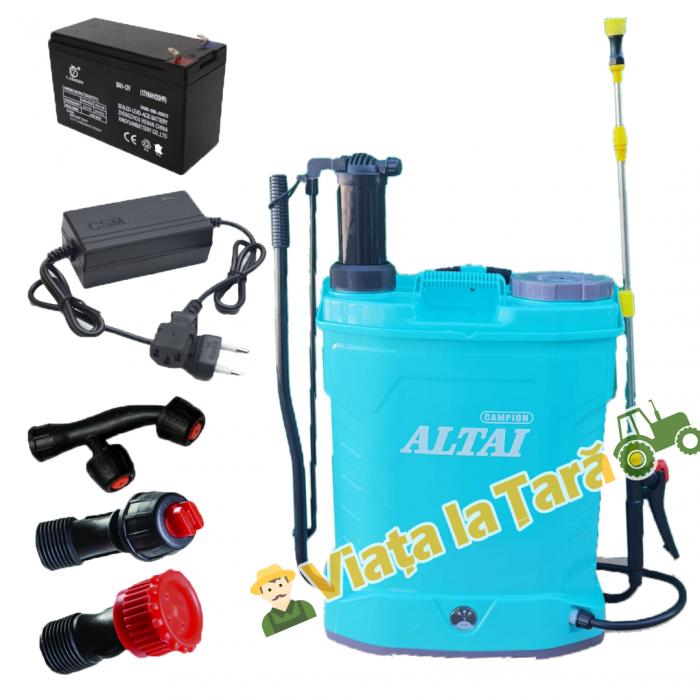 Pompa stropit electrica + manuala ( 2 in 1 ) 16 Litri - 5.5 bari - ALTAI 1