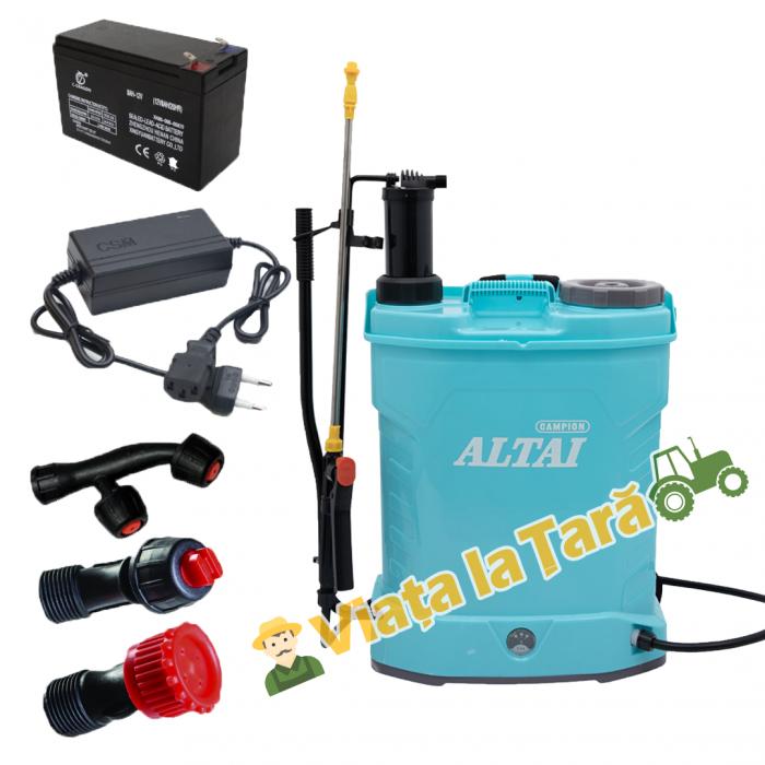 Pompa stropit electrica + manuala ( 2 in 1 ) 16 Litri - 5.5 bari - ALTAI 0