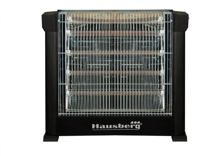 Radiator cu 2 Fete Hausberg, 4 rezistente Quartz,2 trepte putere,2200 W,Termostat [2]
