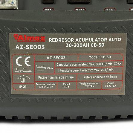 Redresor 12 - 24 V pentru acumulatori auto 30-300ah CB-50 ALMAZ AZ-SE003 4