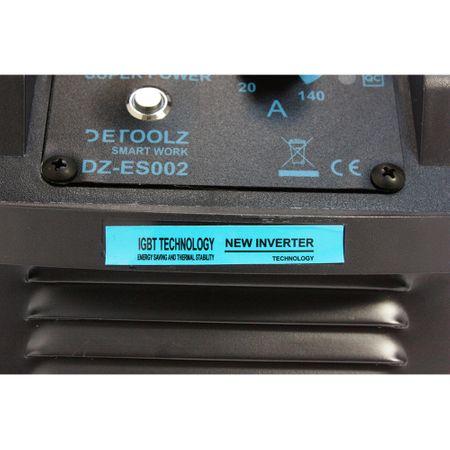 Aparat de sudura MMA-160 DETOOLZ, putere absorbita 8,1 kVA, eficenta 80%, diametru electrod 1,6-5mm 3