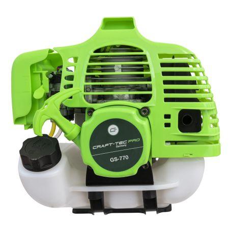 Motocoasa CRAFTEC PRO 5.6CP, 9000 Rpm, 4 accesorii + Cultivator compatibil cu tija 28 mm si 9 caneluri 2