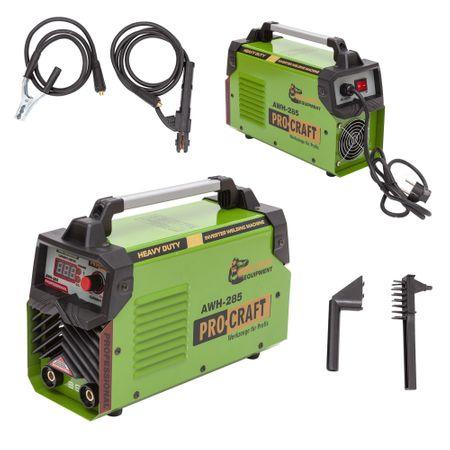 Invertor/Aparat de sudura Procraft Germany 285A, Afisaj digital, Putere 285A, Electrod 1.6-5.0 MM + Masca Sudura ProCraft SHP90-30 Automata 5