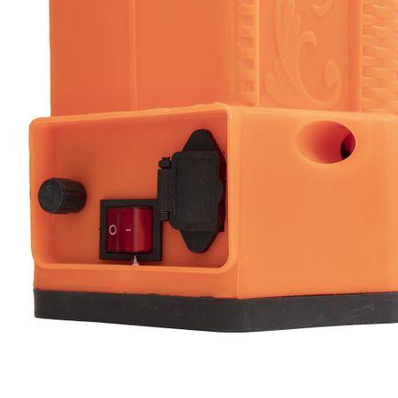 Pompa de stropit Elefant 18 Litri 6 Bari, vermorel cu baterie acumulator 12V/8A + Lance telescopica de 3,5M din inox 6