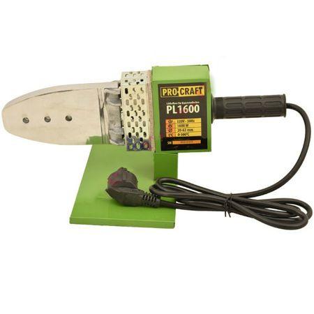 Plita de lipit PPR Procraft, 1600W, 300°C + 6 Bacuri si accesorii 0