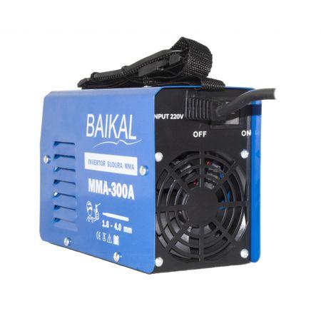 Invertor Aparat Sudura BAIKAL MMA 300A, 300Ah, diametru electrod 1.6 - 4 mm + Masca de sudura automata cu cristale 5