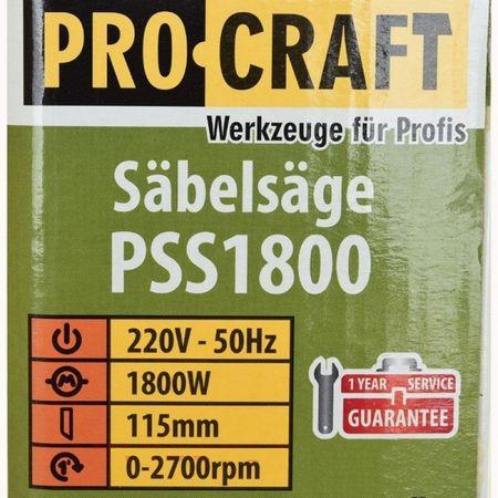 Fierastrau sabie 1800w + 2 Cutite, PROCRAFT PSS1800 4
