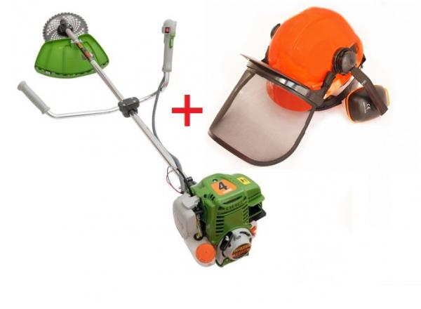 Motocoasa in 4 timpi ProCraft T5600, 7.5CP, 4 tipuri de taiere, 8 accesorii + Casca cu viziera de protectie din plasa si antifoane [0]