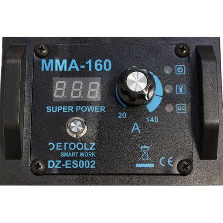 Aparat de sudura MMA-160 DETOOLZ, putere absorbita 8,1 kVA, eficenta 80%, diametru electrod 1,6-5mm 4