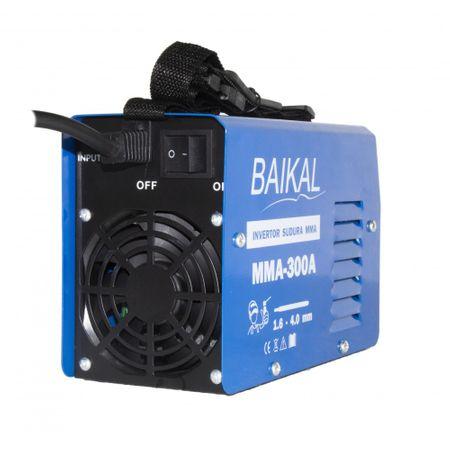 Invertor Aparat Sudura BAIKAL MMA 300A, 300Ah, diametru electrod 1.6 - 4 mm + Masca de sudura automata cu cristale 6