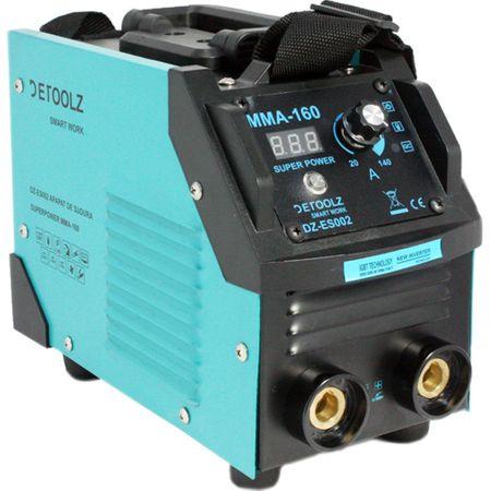 Aparat de sudura MMA-160 DETOOLZ, putere absorbita 8,1 kVA, eficenta 80%, diametru electrod 1,6-5mm 8