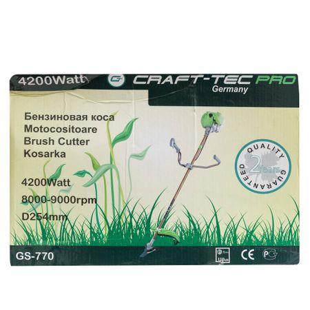 Motocoasa CRAFTEC PRO 5.6CP, 9000 Rpm, 4 accesorii + Cultivator compatibil cu tija 28 mm si 9 caneluri 6