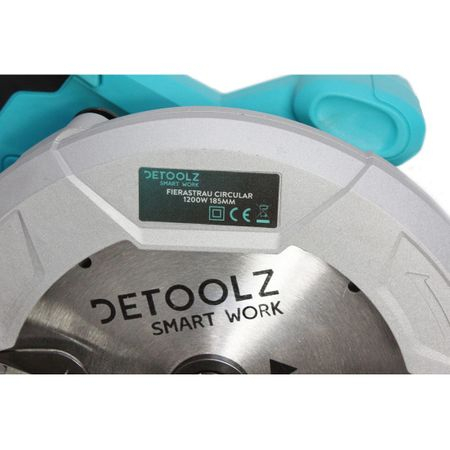 Fierastrau circular DeToolz, 1200W, 185mm, 5800 rpm + Ochelari de protectie, Profesional 3