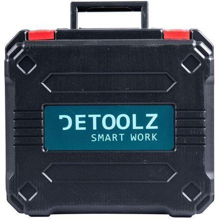Masina de gaurit si insurubat (bormasina) cu 2 acumulatori Detoolz DZ-SE128, 18 V, 1450 RPM, 10 mm mandrina, accesorii incluse 2