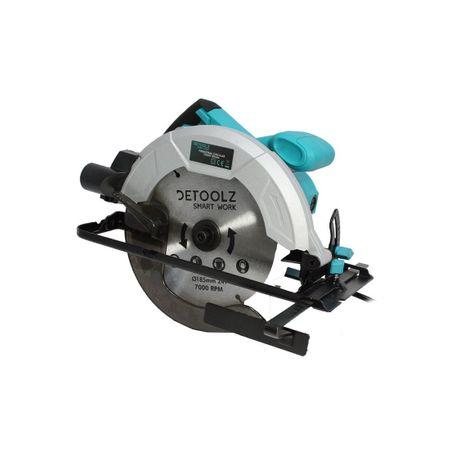 Fierastrau circular DeToolz, 1200W, 185mm, 5800 rpm + Ochelari de protectie, Profesional 6