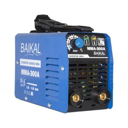 Invertor Aparat Sudura BAIKAL MMA 300A, 300Ah, diametru electrod 1.6 - 4 mm + Masca de sudura automata cu cristale 4