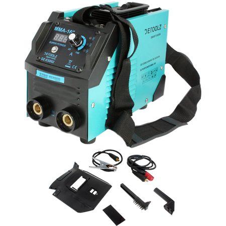 Aparat de sudura MMA-160 DETOOLZ, putere absorbita 8,1 kVA, eficenta 80%, diametru electrod 1,6-5mm 1