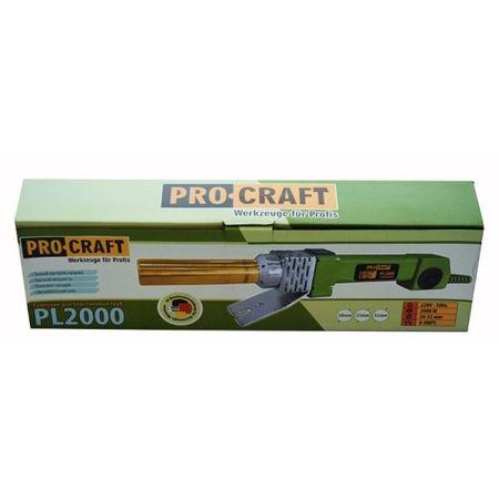 Plita de lipit PPR ProCraft, 2000W, 300°C + 6 Bacuri si accesorii 4