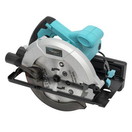Fierastrau circular DeToolz, 1200W, 185mm, 5800 rpm + Ochelari de protectie, Profesional 7