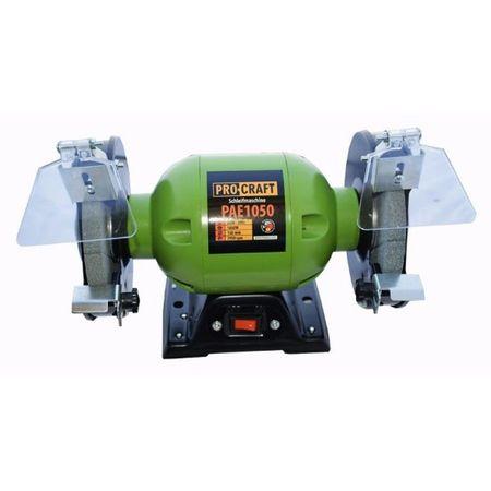 Polizor de banc 1050W, 2950RPM + 2 Discuri de granulatie diferita, PROCRAFT PAE1050 0