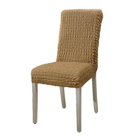 Husa pentru scaun fara volanase, culoarea Bej 0