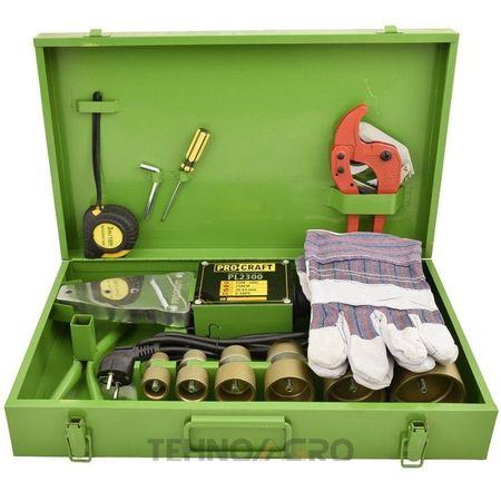 Dispozitiv de lipit tevi polipropilena, trusa,plita PPR,2300W,6 bacuri Teflonate,PROCRAFT 4