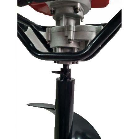 Set Motoburghiu TRIGO TECH, 2.5CP cu reductor + Burghiu de facut gauri in pamant 250 x 800 mm 7