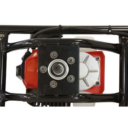 Pachet Motoburghiu TRIGO TECH, 2.5 CP cu reductor + Burghie 100 + 200mm + 300 mm, Foreza pentru pamant 4