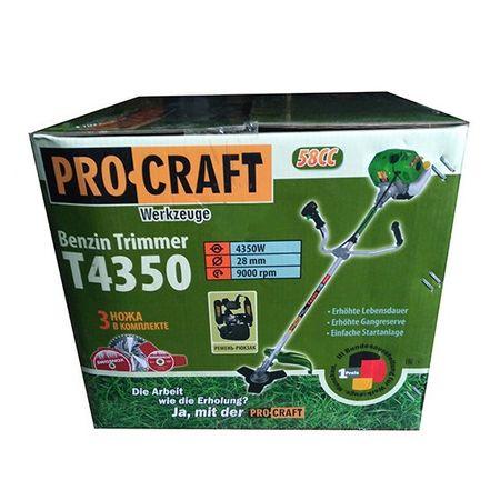 Motocoasa PROCRAFT 4350, 6 CP ,58CC cu 5 accesorii, 4 moduri de taiere + Accesoriu drujba de taiat la inaltime 8