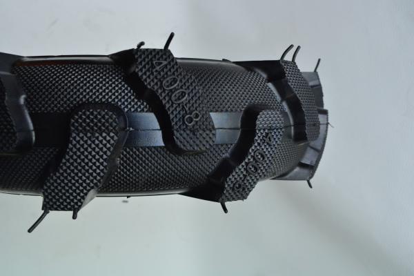 Roata pentru roaba - motocultor - ax 20mm - 2 rulmenti - crampoane - 4.00-8 4PR 2