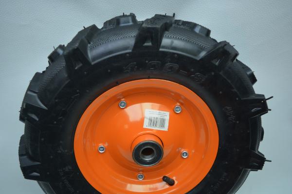 Roata pentru roaba - motocultor - ax 20mm - 2 rulmenti - crampoane - 4.00-8 4PR 3
