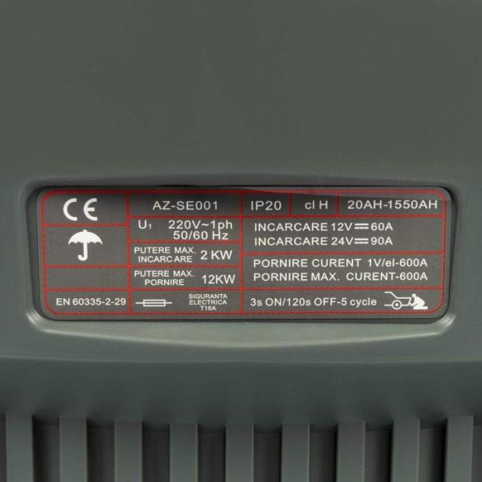 Robot pornire/Incarcator redresor baterie auto 20-1550Ah CD-630 ALMAZ AZ-SE001 1