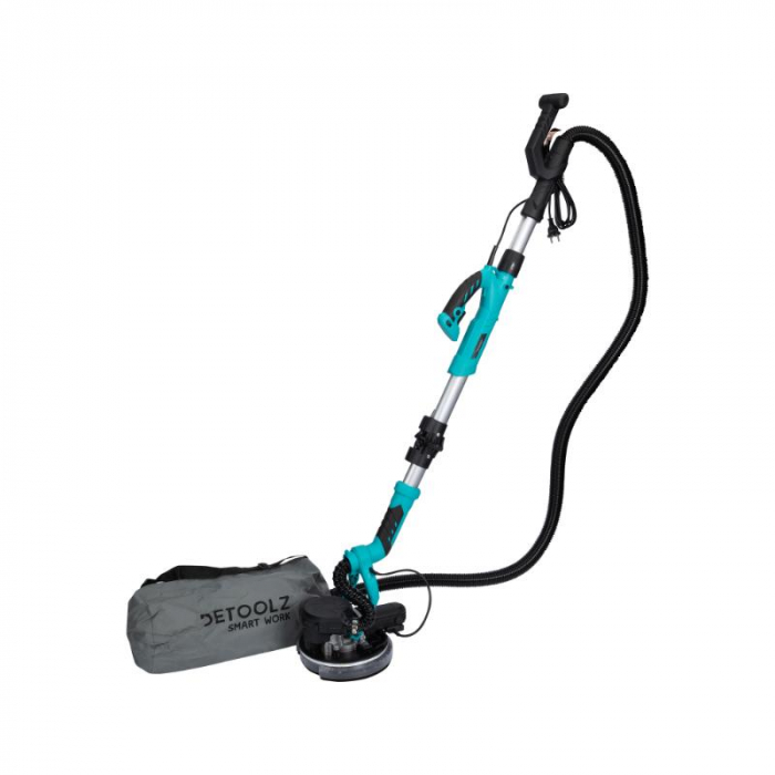 Slefuitor pentru pereti pliabil cu aspirator si LED 750W Ø225mm [10]